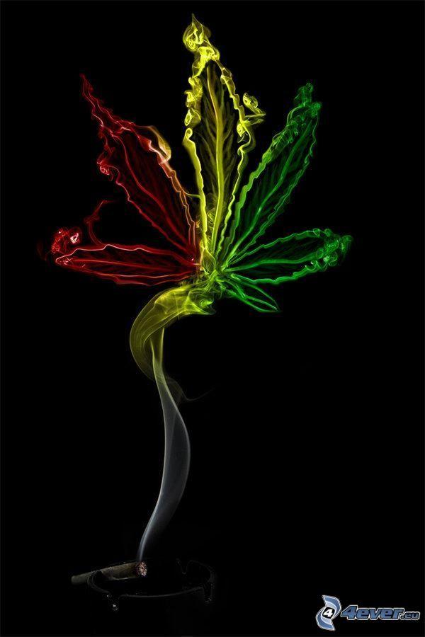 marijuana, cigarro, humo
