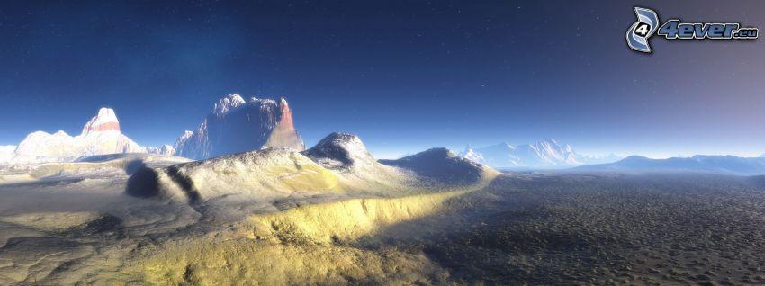montañas digitales, paisaje