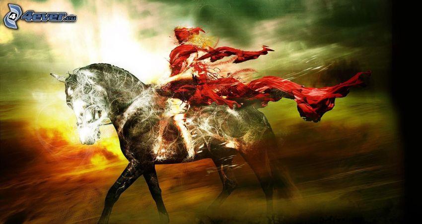 Mujer a caballo