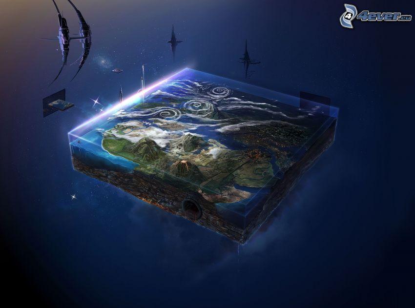 mundo plano, ciencia ficción