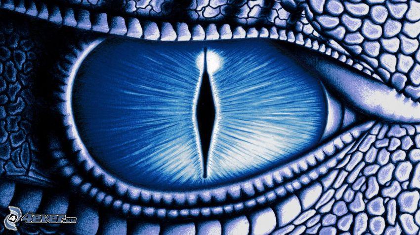 ojo de animal feroz