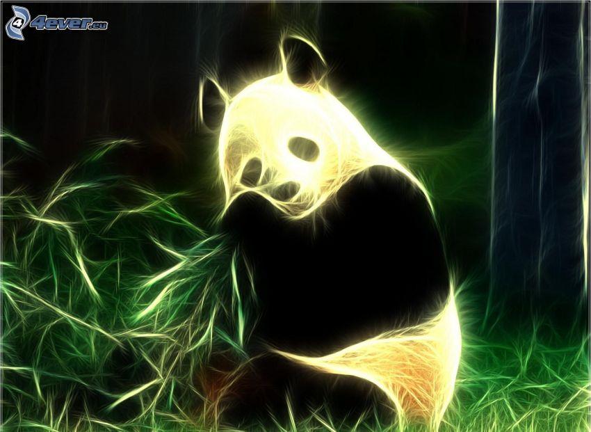 panda, animales de Fractal