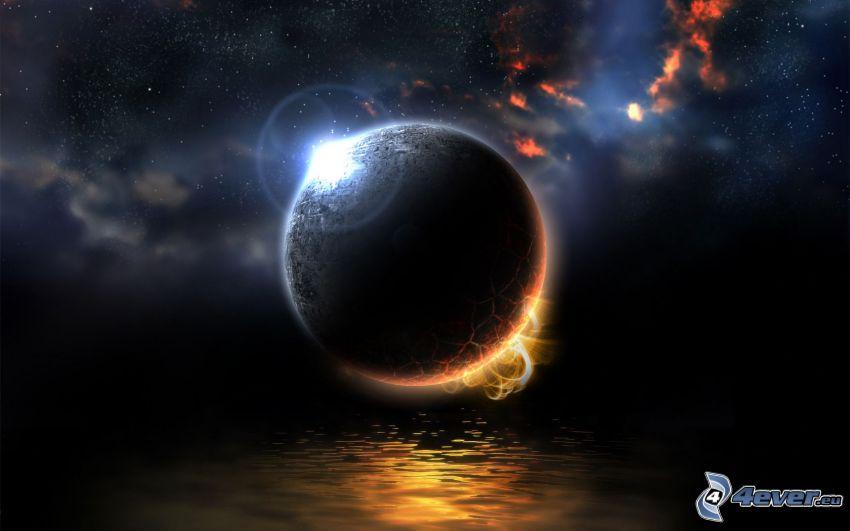 planeta, agua, universo