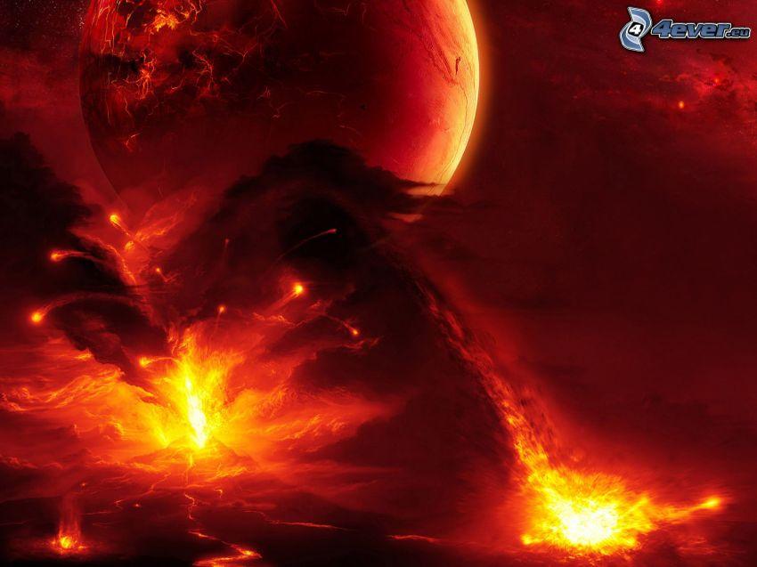 planeta, luz intensa
