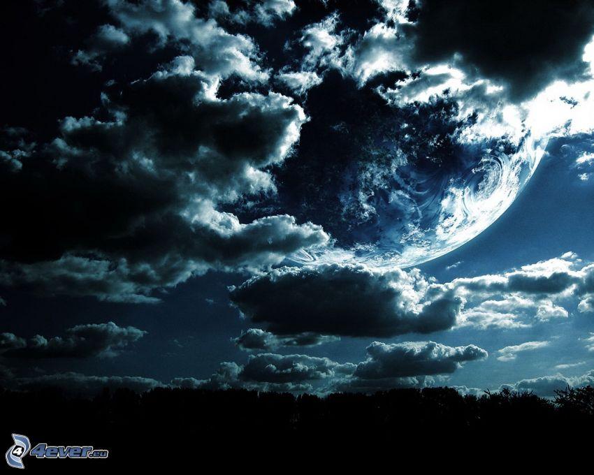 planeta, nubes