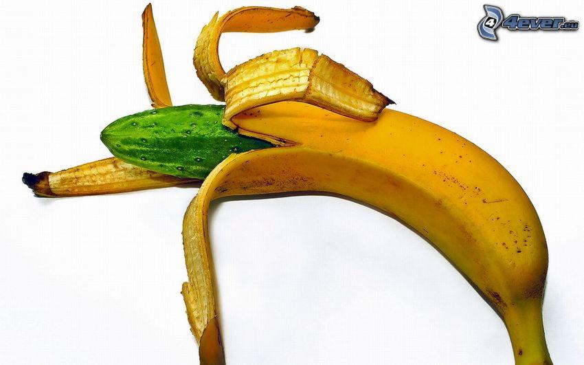plátano, pepino