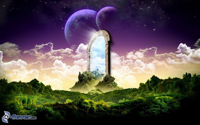 puertas del cielo, paisaje
