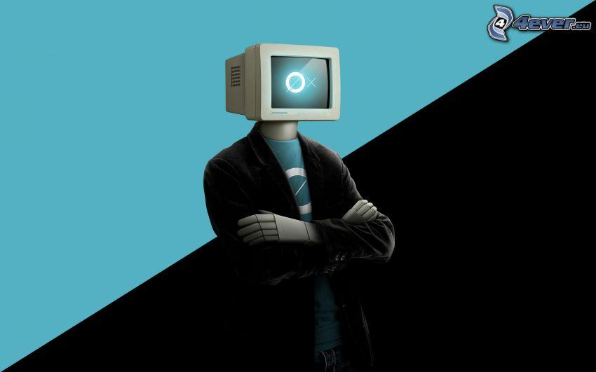 robot, pantalla