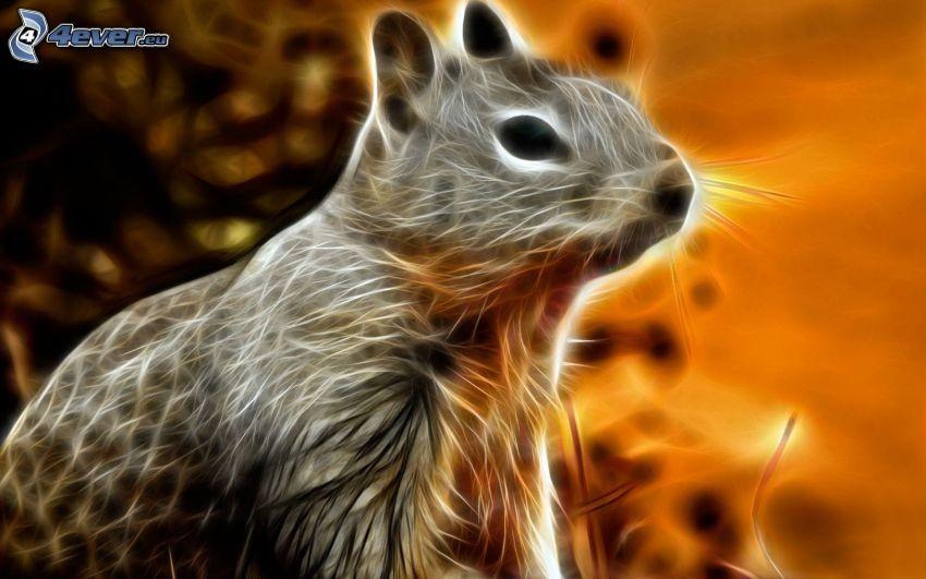 roedor, animales de Fractal