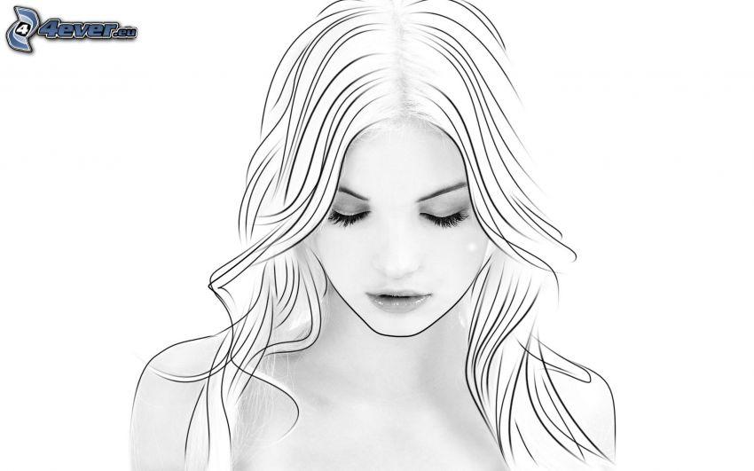 rostro de mujer hermosa, Photoshop