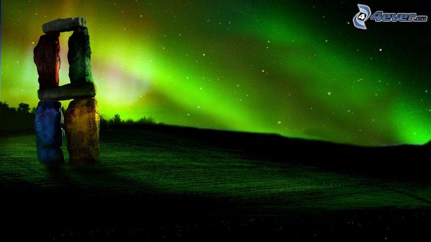 Stonehenge, cielo estrellado