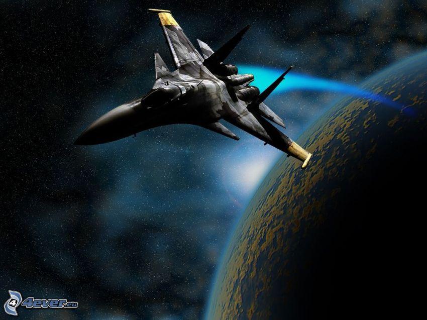 Sukhoi Su-30, universo, Tierra, ciencia ficción