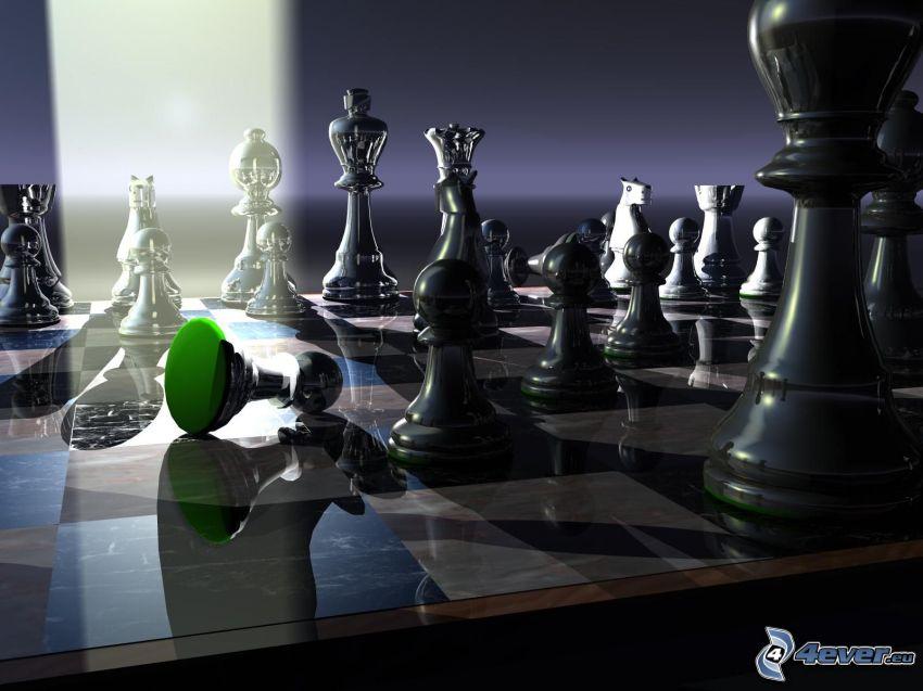 tablero de ajedrez, figurines