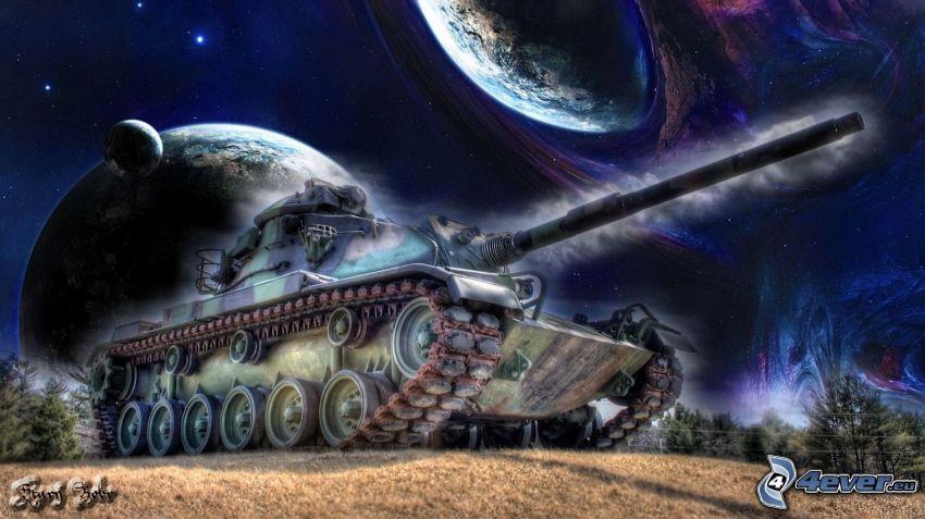tanque, Tierra, mes