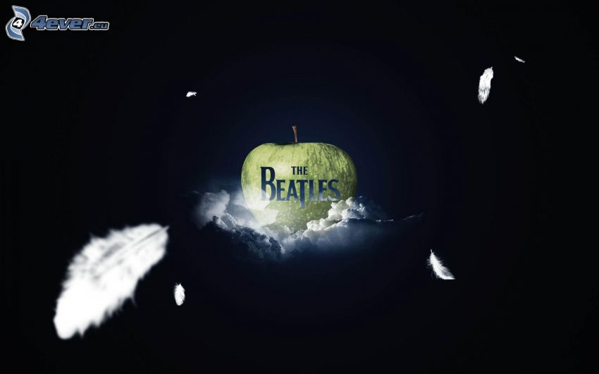 The Beatles, nubes, manzana