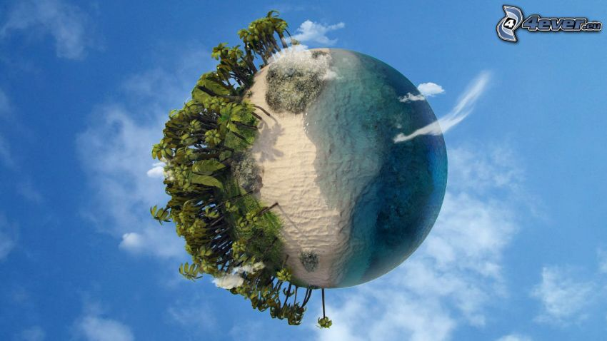 Tierra, mar, árboles