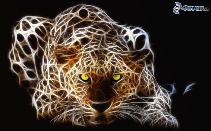 tigre fractal, animales de Fractal