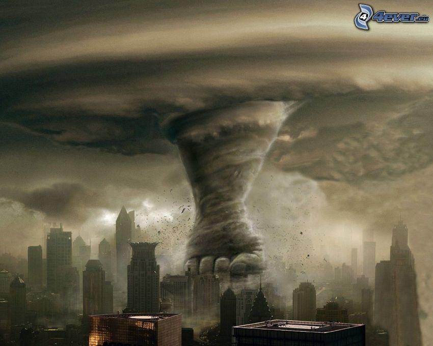 tornado, ciudad grande