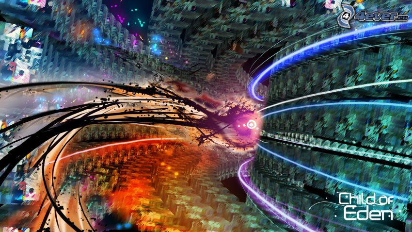 túnel, luces abstractas