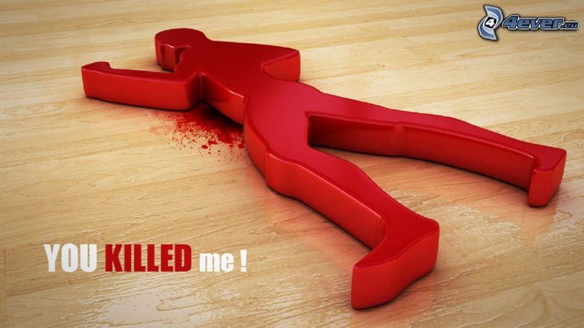 You killed me, asesinato, dibujos animados