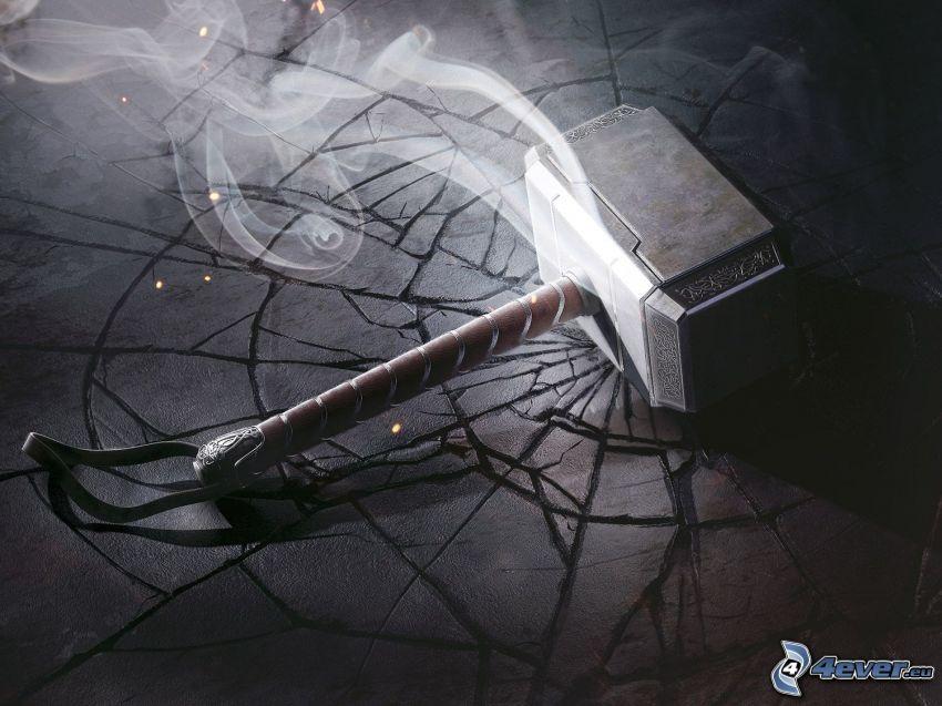 El martillo de Thor, humo