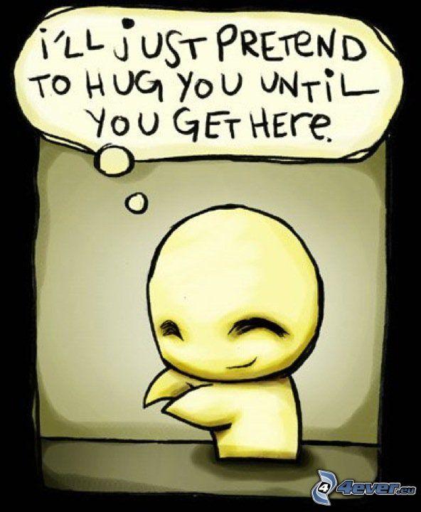 emo carácter, sola, abrazar