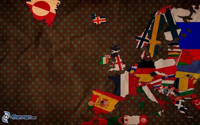Europa, banderas