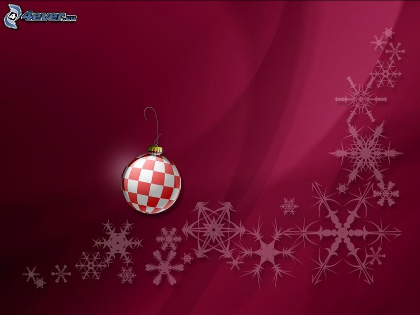 fondo de pantalla navideño, Bola de Navidad