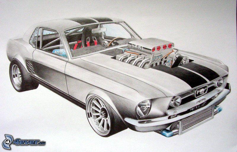 Ford Mustang, Muscle Car, Big Block