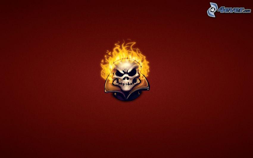 Ghost Rider, cráneo, llama