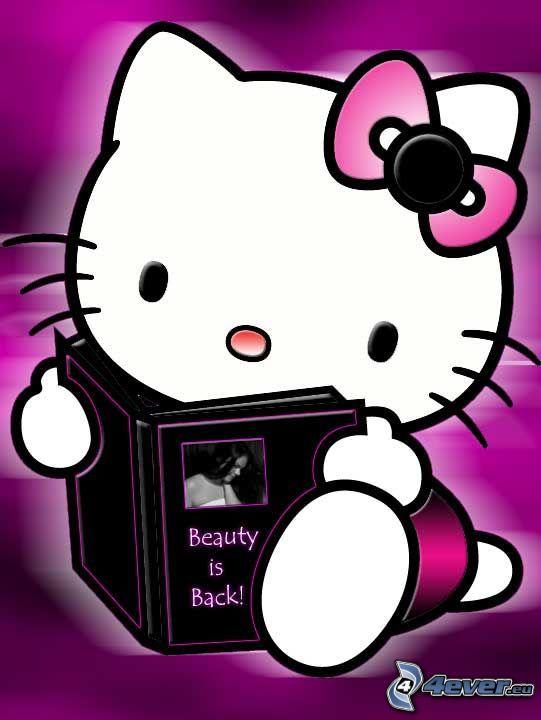 Hello Kitty, libro, moña