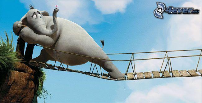 Horton, elefante, puente peatonal, historia