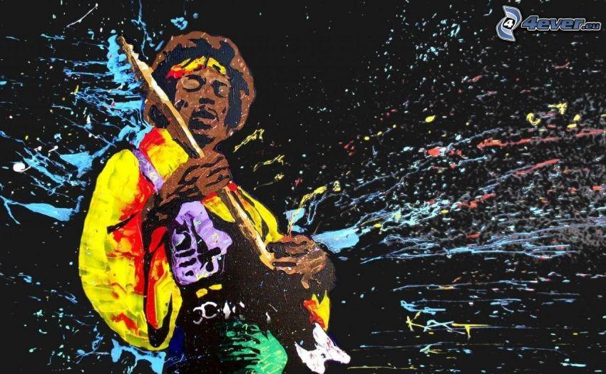Jimi Hendrix, colores