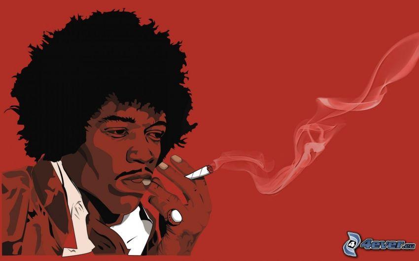 Jimi Hendrix, fumar