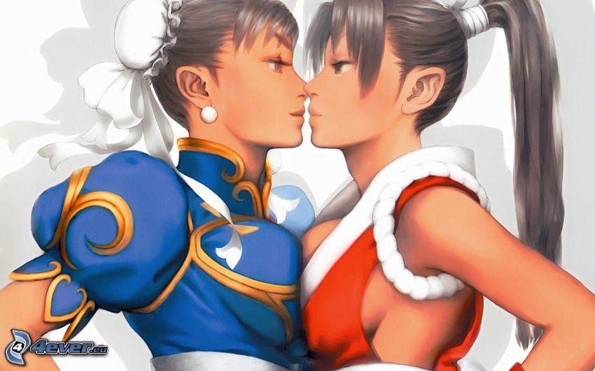 lesbianas, muchachas de, historieta