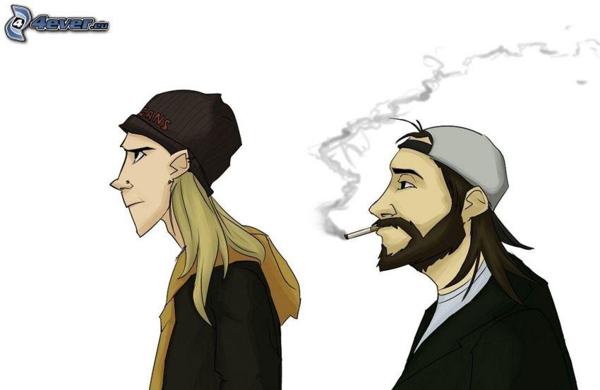 los personajes dibujados