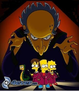 Los Simpson, Bart Simpson, Lisa Simpson, Mr. Burns