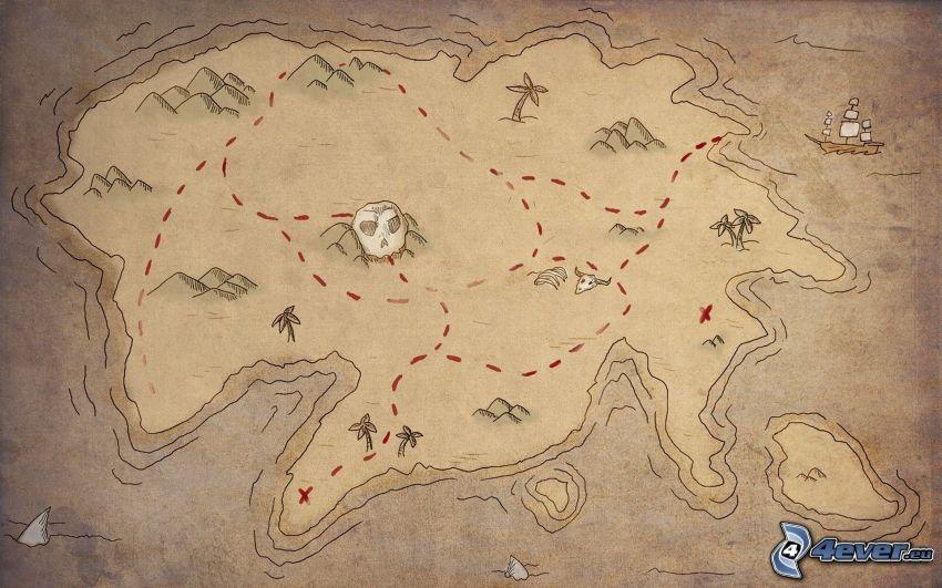 mapa, isla