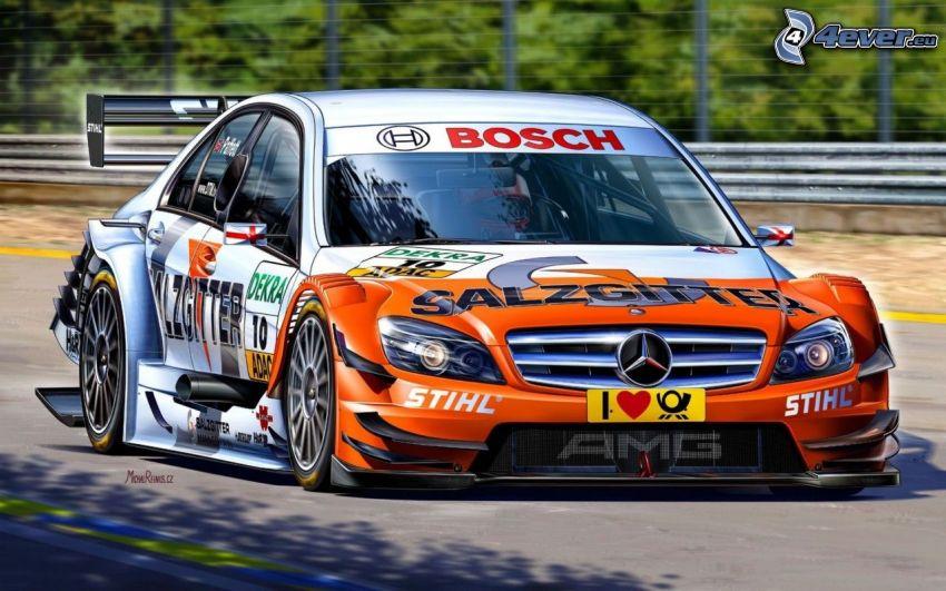 Mercedes-Benz C, coche de carreras