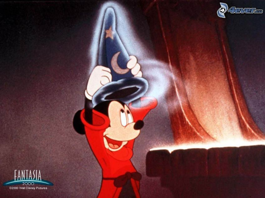 Mickey Mouse, mago