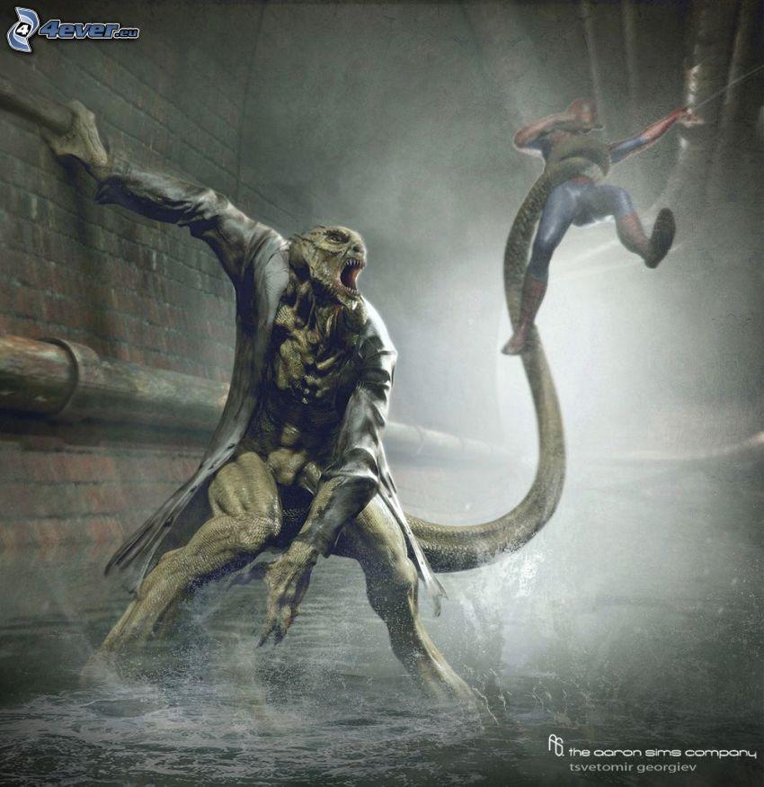 monstruo, Spiderman, canal