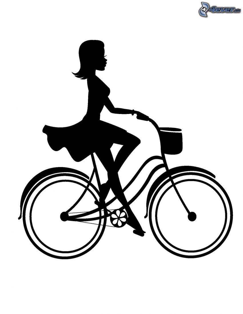 muchacha en la bici