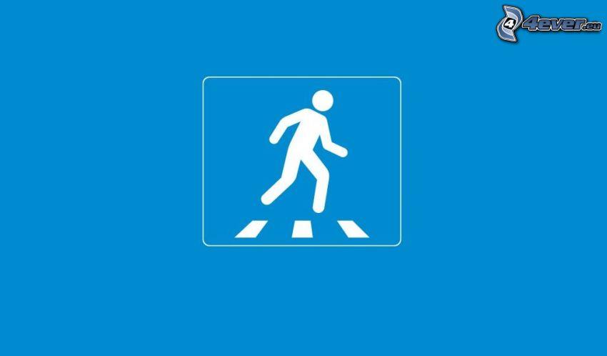 muñeco, paso peatonal