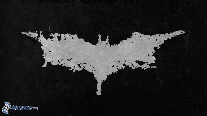 murciélago, blanco y negro