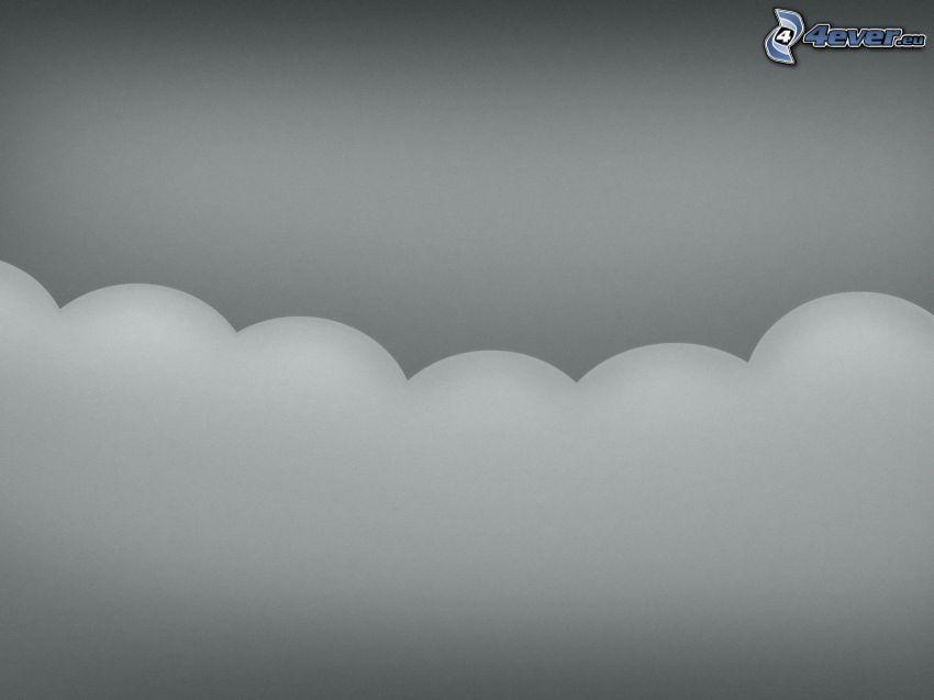 nube, blanco y negro