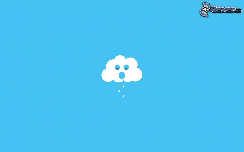 nube, gotas de lluvia