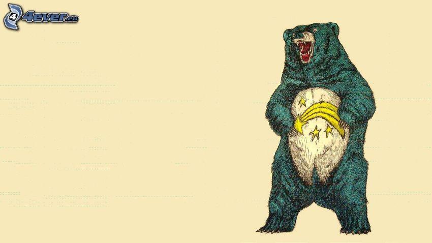 oso, cometa, estrellas
