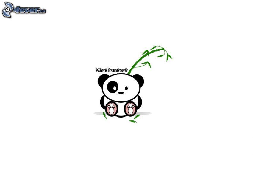 oso de peluche, bambú