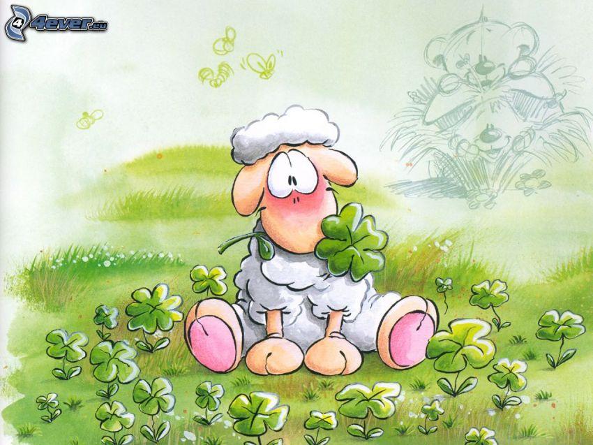 oveja, dibujos animados