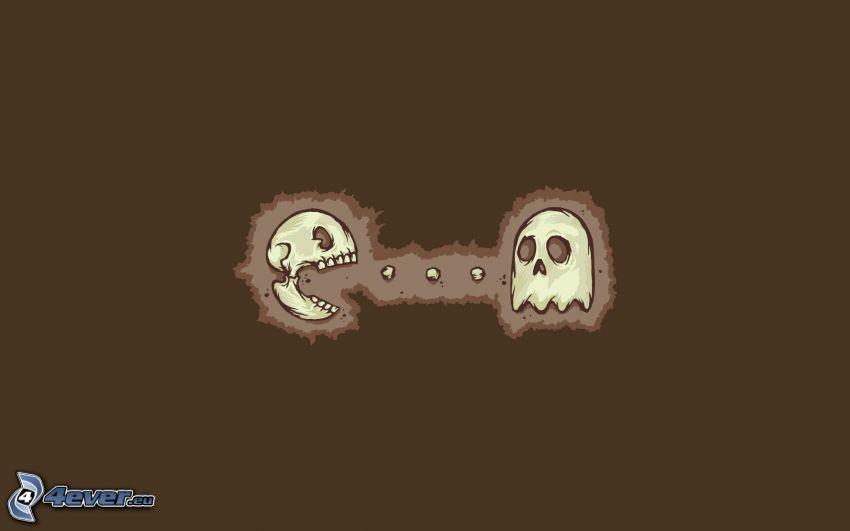 Pacman, esqueletos